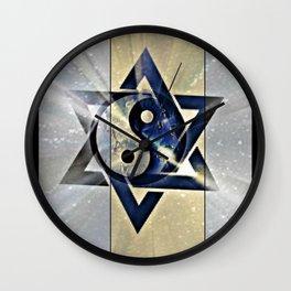 Jewish Yin Yang Wall Clock