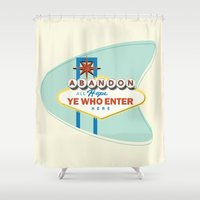 sin city Shower Curtains featuring Sin City by khalan