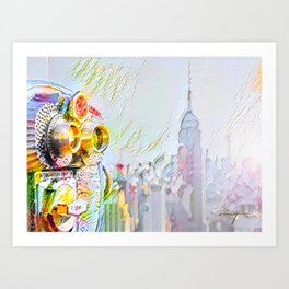 New York Colore Art Print