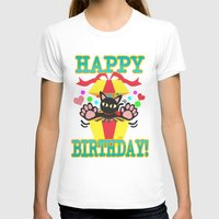 happy birthday T-shirts featuring Happy Birthday! by BATKEI