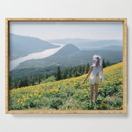 Daydreaming on Dog Mountain - Columbia River Gorge Serving Tray