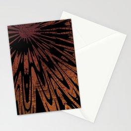 Native Tapestry in Burnt Umber Stationery Cards