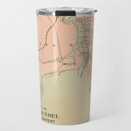 Vintage Kennebunkport & Cape Arundel ME Map (1894) Travel Mug