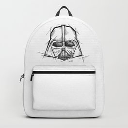 Darth Vader Handmade Drawing, Made in pencil, charcoal and ink, Tattoo Sketch, Tattoo Flash, Sketch Backpack