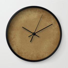 Abstract Tan Leather Texture Wall Clock