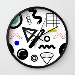 San Junipero pattern Wall Clock