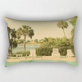 Lolita's Poolside Vacation - Beach Art Rectangular Pillow
