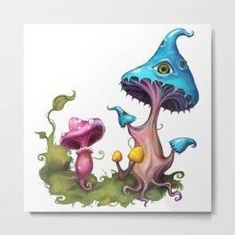 Magic mushrooms - White Metal Print
