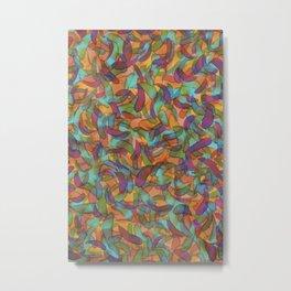 Confetti Leaf Metal Print