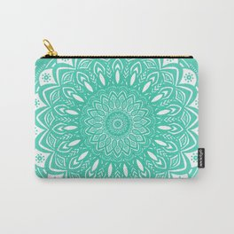 Minimal Aqua Seafoam Mint Green Mandala Simple Minimalistic Carry-All Pouch