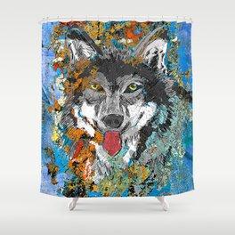 Unique Wolf Art Shower Curtain