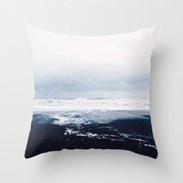 Reynisfjara Black Sand Beach, Vik, Iceland Throw Pillow