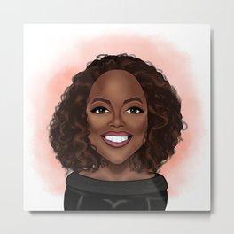 Cartoon Oprah Metal Print