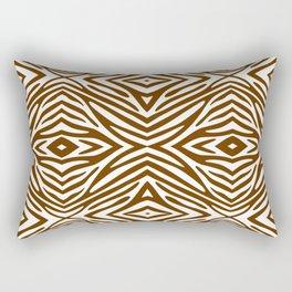 Nutmeg Neutral Zebra Rectangular Pillow