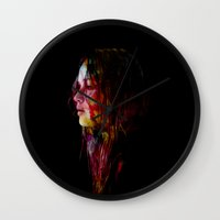 jennifer lawrence Wall Clocks featuring Jennifer Lawrence in Watercolor.  by savingmypromises
