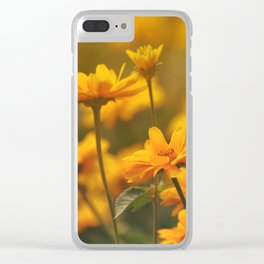 the yellows of spring Clear iPhone Case