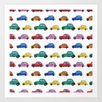 italian Art Prints featuring Italian cars  by Katerina Izotova