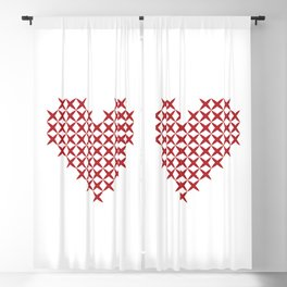 heart Blackout Curtain