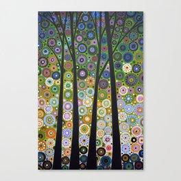 Abstract Art Landscape Original Painting ... Falling Light Canvas Print