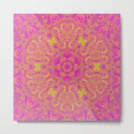 Pink, Orange, and Yellow Kaleidoscope 2 Metal Print