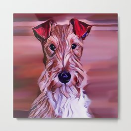 The Wire Fox Terrier Metal Print