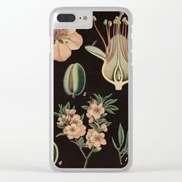 Botanical Almond Clear iPhone Case