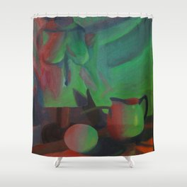 Red and Green Lights Shower Curtain