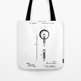 Edison light bulb Tote Bag