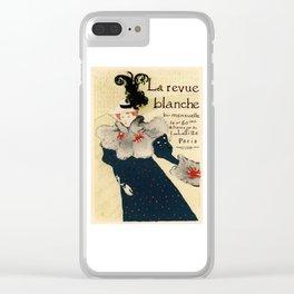 Belle Epoque vintage poster, La Revue Blanche Clear iPhone Case