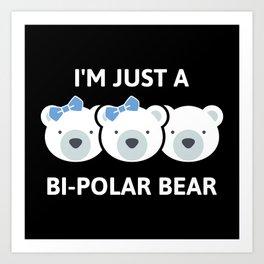 Bi-Polar Bear Art Print