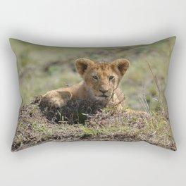 Adorable Lion Cub Rectangular Pillow