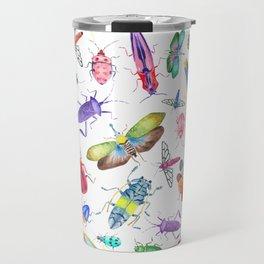 Colorful Bugs and Beetles Collection Travel Mug