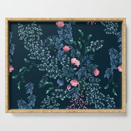 Floral - Blue & Pink Serving Tray