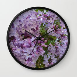 Lilac ~ Periwinkle Wall Clock