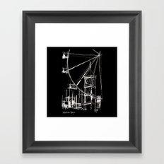 Black London Framed Art Print