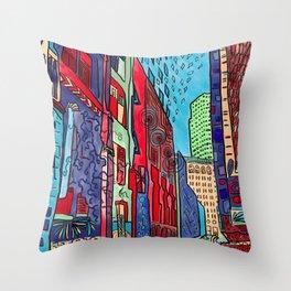 Back Alleys Aren't So Bad Throw Pillow