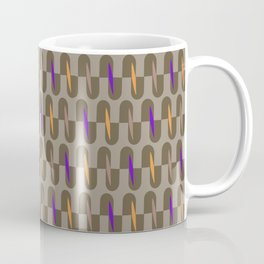 J Stripe Brown Coffee Mug