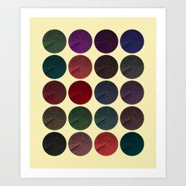 Disco Discs 1 Art Print