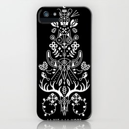 La Vie + La Mort: White Ink iPhone Case