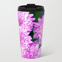 Beautiful Pink Flowers Metal Travel Mug