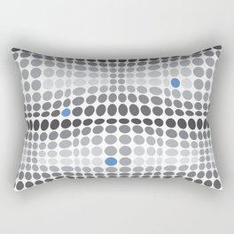 Dottywave - Grey and blue wave dots pattern Rectangular Pillow