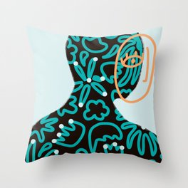 Take care of your inner garden - Minimal Art Throw Pillow