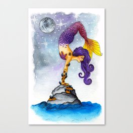 Yogi Mermaid Canvas Print