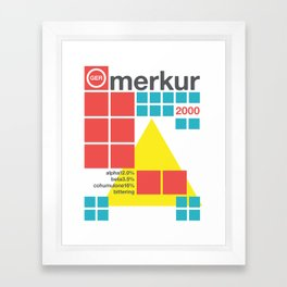 merkur single hop Framed Art Print