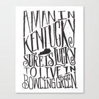 kentucky Canvas Prints featuring KENTUCKY MAN by Matthew Taylor Wilson
