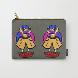Colorful Owl in Trousers Carry-All Pouch