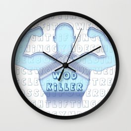 wod killer muscle man Wall Clock