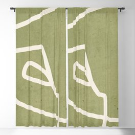 abstract minimal 57 Green Blackout Curtain