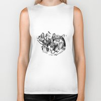 voyage Biker Tanks featuring Voyage by Lucie's Illustrations