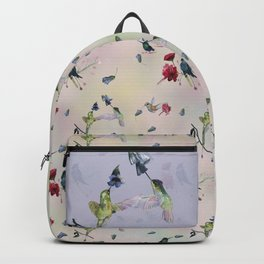 Hummingbirds in spring Backpack
